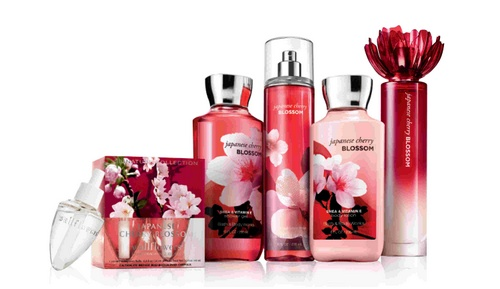 Bath & Body Works Japanese Cherry Blossom fragrance.