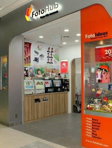 FotoHub photo lab at Westgate mall in Singapore.
