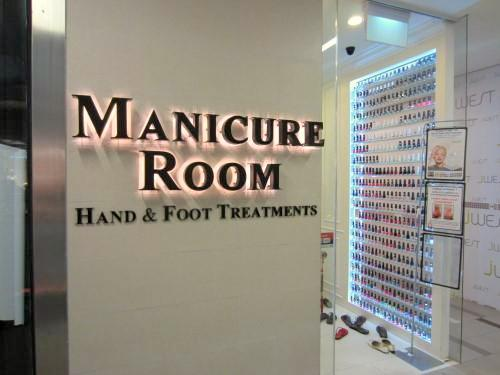 Manicure Room nail salon at NEX mall in Singapore.