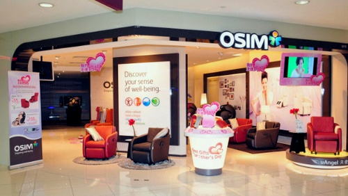 OSIM store at Tampines Mall in Singapore.