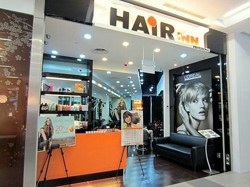 Hair Inn hair salon at NEX shopping centre in Singapore.