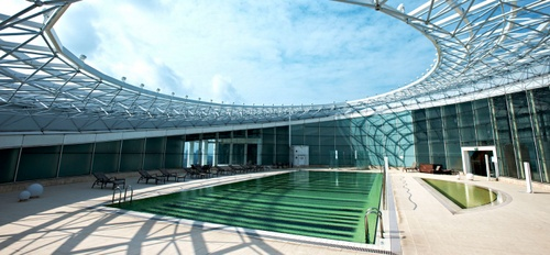 Fitness First Fusionopolis swimming pool Singapore.