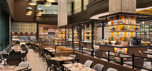 Hotel Jen Tanglin J65 restaurant Singapore.