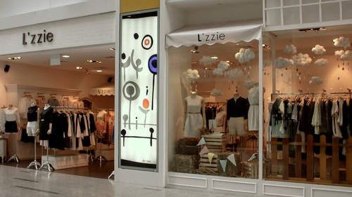 L'zzie clothing shop Clarke Quay Central Singapore.