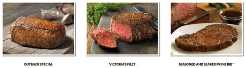 Outback Steakhouse signature steak meals Singapore.