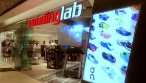 Running Lab shop Tampines Mall Singapore.