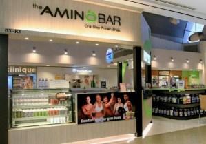 The Amino Bar supplement shop Velocity Novena Square Singapore.