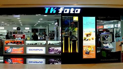 T K Foto camera store at Plaza Singapura in Singapore.