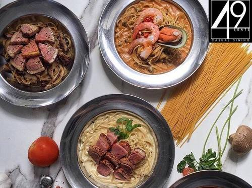 49 Seats Western fusion meal, available in Singapore.