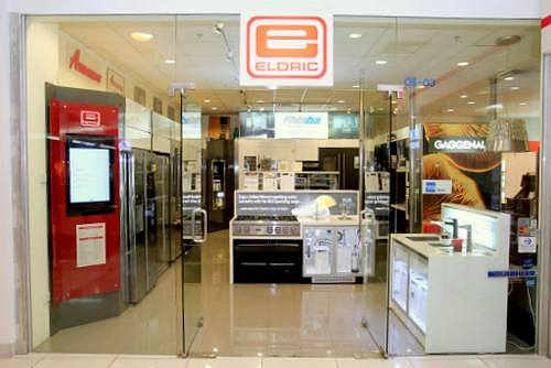 Eldric Marketing kitchen appliance store at The Centrepoint mall in Singapore.