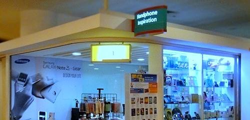 Handphone Inspiration store at Marina Square mall in Singapore.