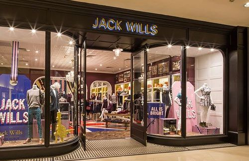 Jack Wills clothing store at Raffles City Shopping Centre in Singapore.