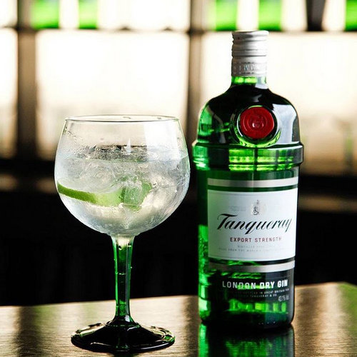 Tanqueray London Dry Gin, available at Cellarbration liquor store in Singapore.