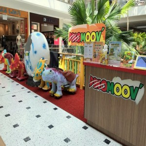 Dinomoov playground at Jurong Point shopping centre in Singapore.