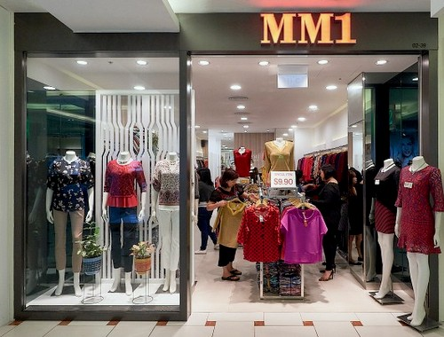 MM1 clothing boutique at Jurong Point shopping centre in Singapore.