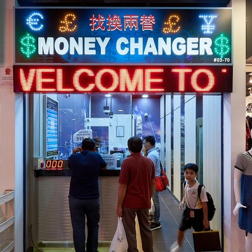 TimeCity Money Changer outlet at Jurong Point shopping centre in Singapore.