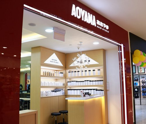 Aoyama Hair Studio salon within HarbourFront Centre mall in Singapore.