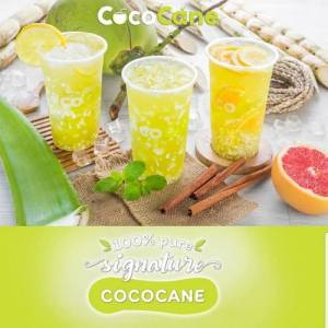 CocoCane coconut & sugar cane drinks, available in Singapore.
