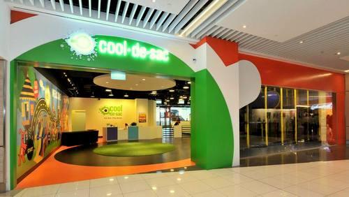Cool de Sac indoor playground at Suntec City shopping centre in Singapore.