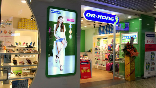Dr.Kong shoe store at Northpoint City mall in Singapore.