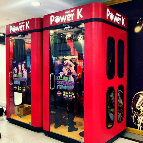 Power K - Mini KTV karaoke booths at Liang Court mall in Singapore.