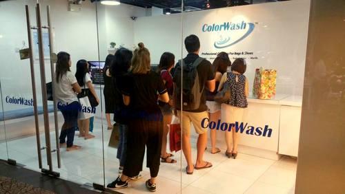 ColorWash store in Singapore.