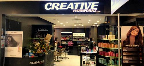 Creative Hairworkz hair salon at Alexandra Retail Centre in Singapore.