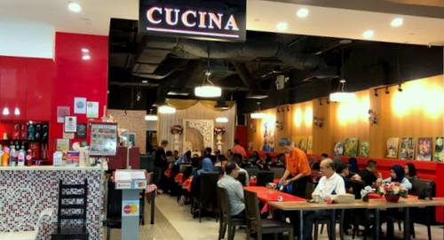 Cucina Restaurant and Catering at Aperia Mall in Singapore.