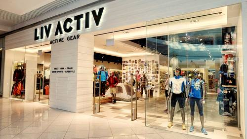 LIV ACTIV active wear and outdoor equipment store in Singapore.