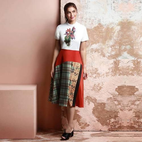 Plains & Prints Favien CS Dress, available in Singapore.