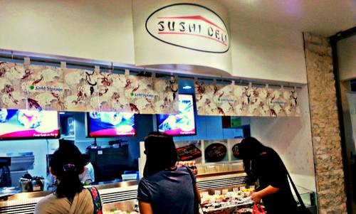 Sushi Deli restaurant at Compass Point mall in Singapore.