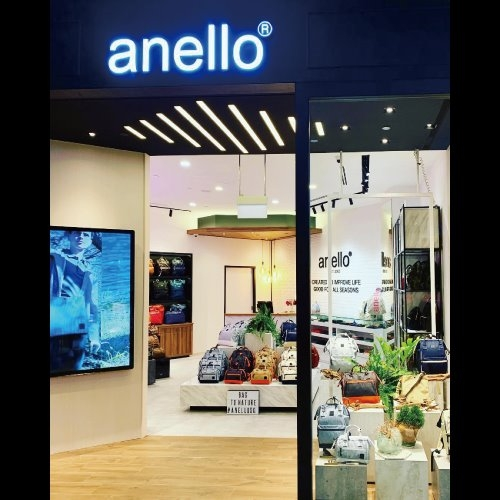 anello bag shop at Jewel Changi Airport mall in Singapore.