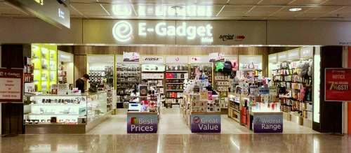 E-Gadget Mini electronics store at Changi Airport in Singapore.
