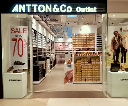 Antton & Co. shoe shop at IMM in Singapore.