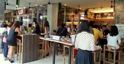 Five Izakaya Bar at Changi City Point mall in Singapore.