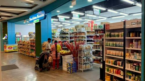 Ponni Indian Groceries store at Changi City Point mall in Singapore.