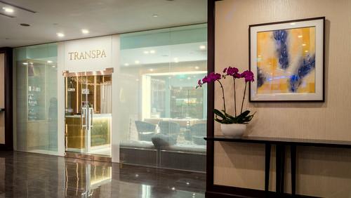 TranSpa beauty salon at Changi Airport in Singapore.