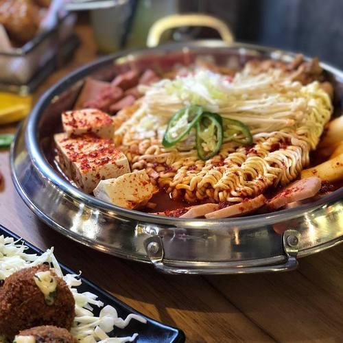 Bonchon Korean restaurant's Budae Jigae meal, available in Singapore.