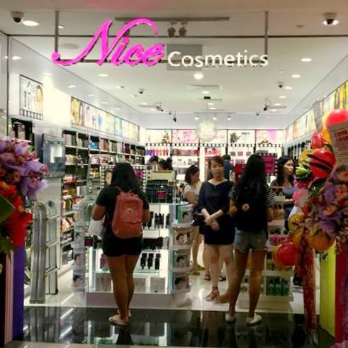 Nice Cosmetics store in Singapore.