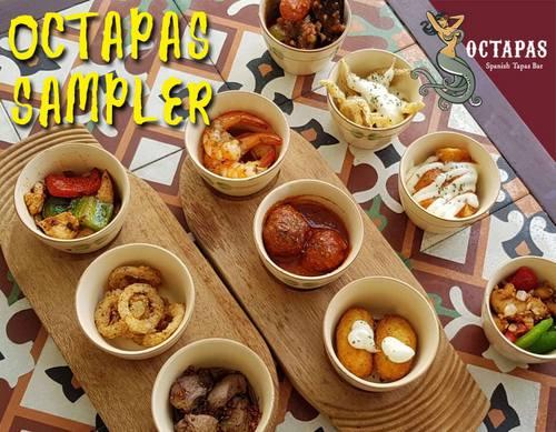 Octopas Spanish Tapas Bar & Restaurant tapas sampler dish, available in Singapore.