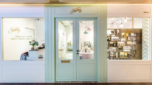 Flutters Lash & Nail Parlour at OUE Downtown Gallery mall in Singapore.