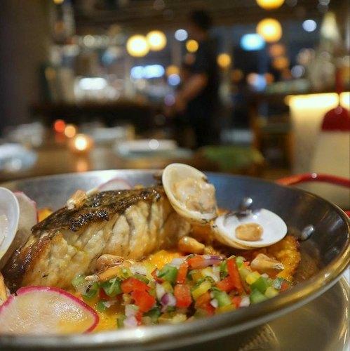 TONO Cevicheria restaurant's Peruvian Paella meal, available in Singapore.