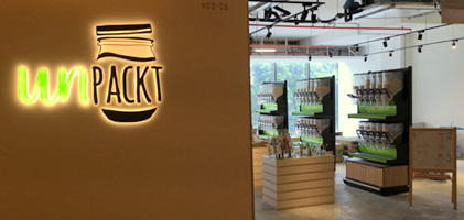UnPackt grocery store at OUE Downtown Gallery mall in Singapore.