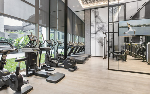 24-hour fitness centre at Ascott Orchard Singapore.