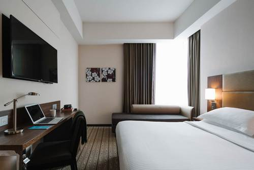 Guest room at Destination Singapore Beach Road hotel.