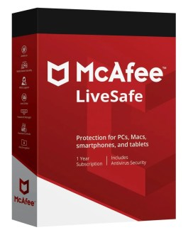 Mcafee LiveSafe 2021 1 Year Unlimited Devices