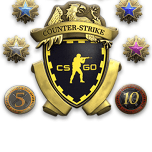 Extreme High Tier Master Guardian 1 / 1750+ Wins / 4500+ Hours / 2016 Service Medal , 2017 Service Medal (BLUE) , 2018 Service Medal (GREEN) , 2019 Service Medal (GREEN) , 2020 Service Medal (GREEN) , Hydra Coin, Loyalty Badge