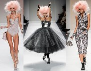 SS14, NYFW. Betsey, who's line I thought was diminished for some time, made one hell of a Betsey comeback. Funky, hard-rock-and metal. On top of it, her ending had her appeal (A BJ A Day keeps the Doctor away---something like that---oh Betsey.)