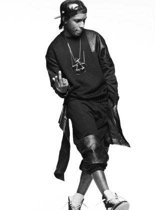Asap Rocky: Fashion Photography, wearing some Rick Owens.