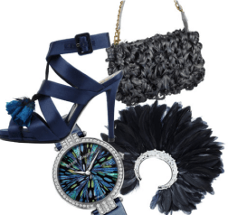Navy is the newest accessory trend of the season, how will you wear it?